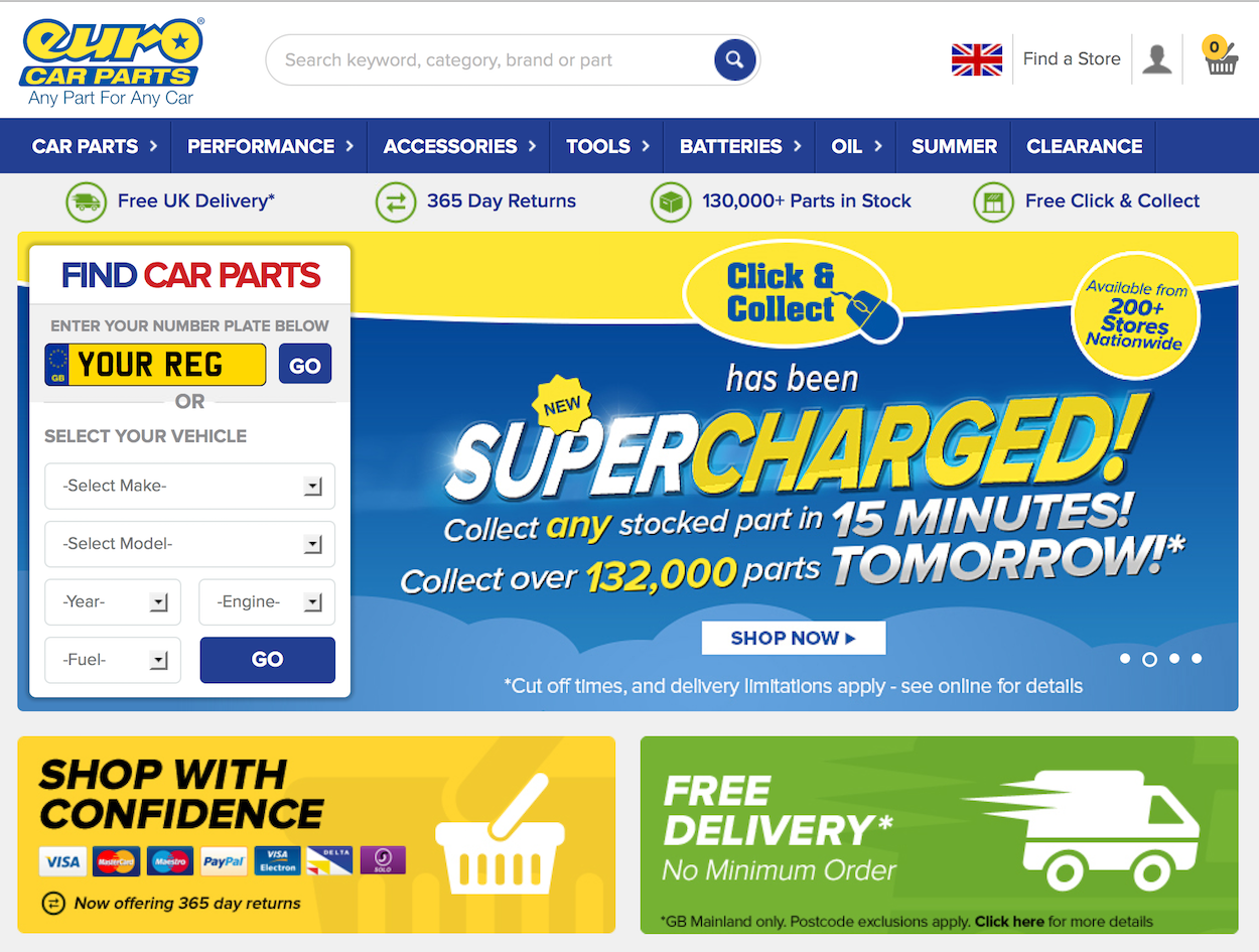 Euro Car Parts Launches New 1million Mobile Optimised Website